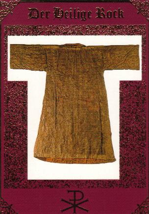 Jesus Christ's robe (post card), Trier, Germany