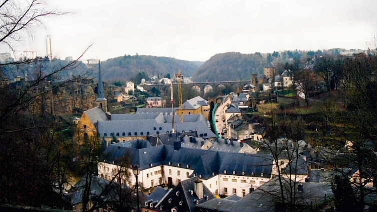 The Corniche, the 'most beautiful balcony in Europe'...Luxembourg City