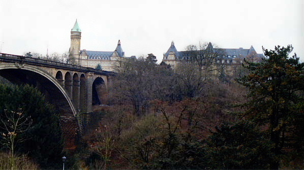 Pont Adolphe, the longest stone arch bridge in the world, Luxembourg City