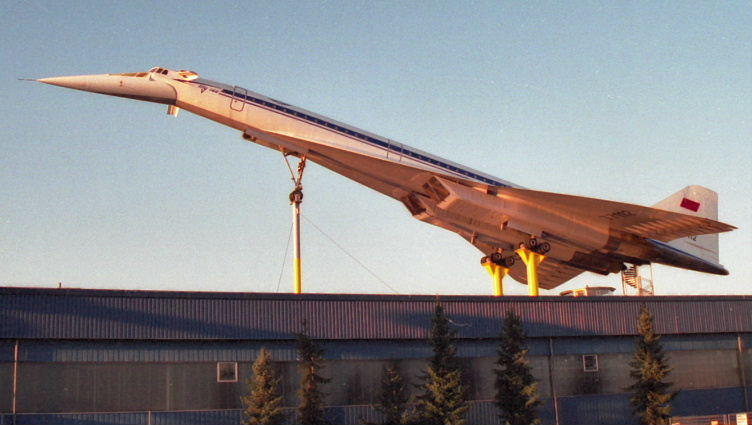 Tupelov TU-144, Supersonic Russian Airliner, in retirement