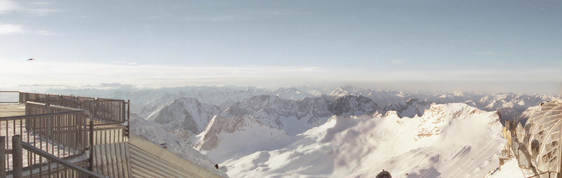 Looking towards Austria, Switzerland, and Italy from Zugspitz, the highest point in Germany