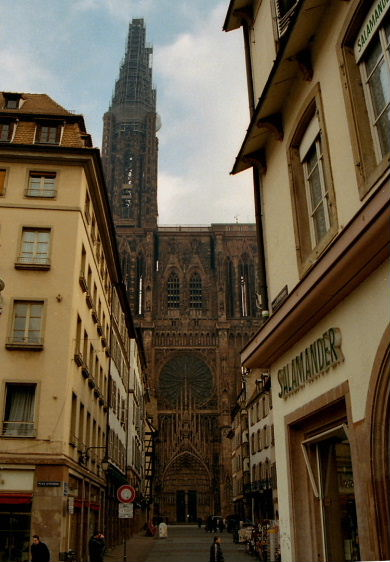 Strasbourg Cathedral, Strasbourg, France, ground up