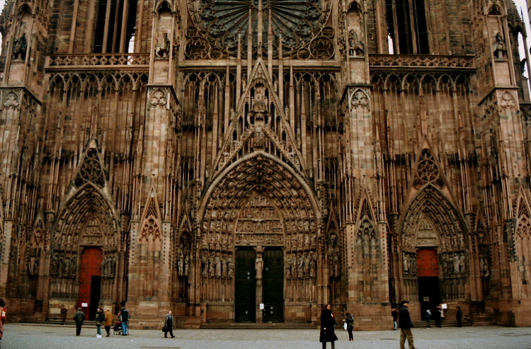 Church door at Strasbourg Cathedral, France