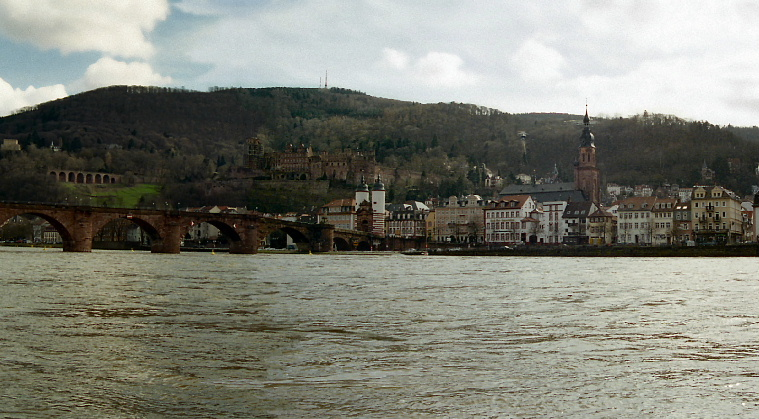 Alte Brucke Bridge across the Neckar River, Heidelberg Germany
