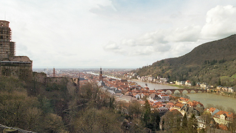 Heidelberg overlook from Castle