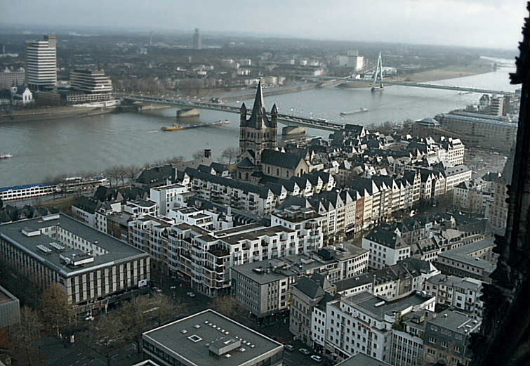 Cologne, Germany, seen from the Cologne Dom