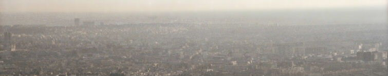 Notre Dame Cathedral from the top of Eiffel Tower