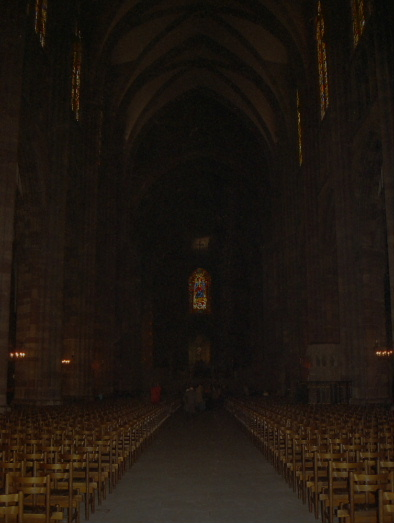 Interior view, Strasbourg Cathedral, France