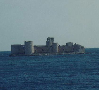 Kiskalesi...no, this is not a boat...it's a castle>>>