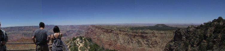 Crude Panoramic Photo of Grand Canyon